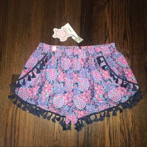 NWT • Simply Southern • Pineapple Tassel Shorts